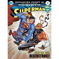 کتاب کمیک Superman face-off with Death-stroke
