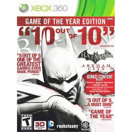 Batman: Arkham City - GOTY بازی Xbox 360